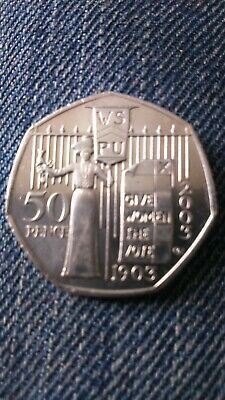 50Pence. 2003 Coin,Used, Rare, Good Condition, History, Vintage, Empowering.1903