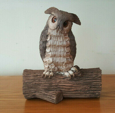 """Vintage Pottery Owl - Clarence Cameron 1979 7"""" Tall 5.5"""" Wide Owls by Clarence"""