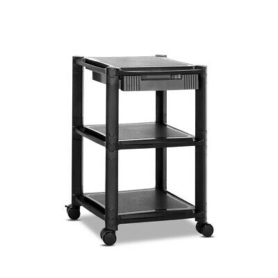 Artiss 3-tier Stackable & Detachable Mobile Printer Stand Shelf w/ Rolling Cart