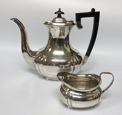 Vintage Silver Plated (Epns) Coffee Pot With Milk Jug And Sugar Bowl