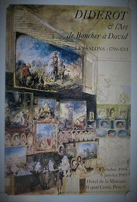 Affiche DIDEROT & L'ART 1984 Exposition