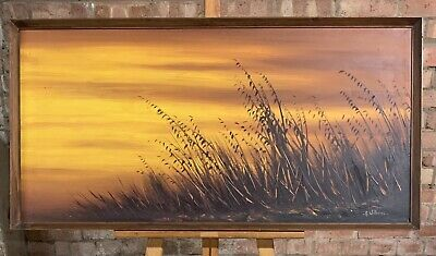 Lovely Original Oil Painting By A Williams Depitcing A Sunset