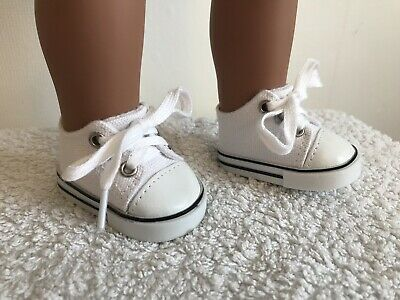 "18"" Inch Doll Girl White Trainers Shoes American Girl Our Generation"