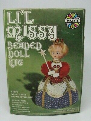 Walco Li'L Missy Miss Liberty Beaded Doll Kit #13306