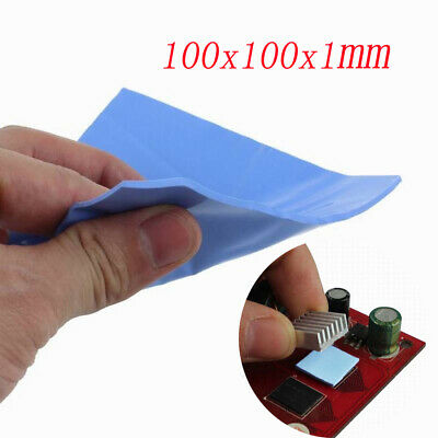 100*100*1mm 1 Sheet Heatsink Thermal Pad Cooling Conductive Silicone GPU CPU