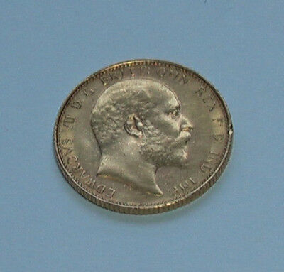 A Lovely Example Of A 1909M Edward Vii Full Gold Sovereign, Melbourne Mint