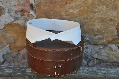 """Mens Antique Wing Starched White Collar - Collins, Dundee - Period - 17 x 1 3/4"""""""