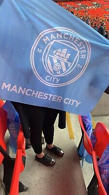 Manchester City Fa Cup Final Flag Watford  2019