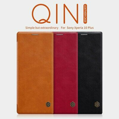 Nillkin Qin Slim Faux Leather Flip Case Cover for Sony Xperia 10 Plus