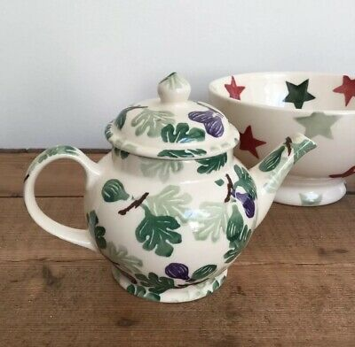 Emma Bridgewater Dollies Figs Teapot ( First Design For It's Collectors Club).