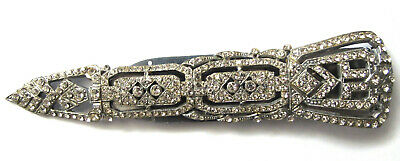 Genuine vintage, large, possibly rare, Art Deco dress clip 5 inches long