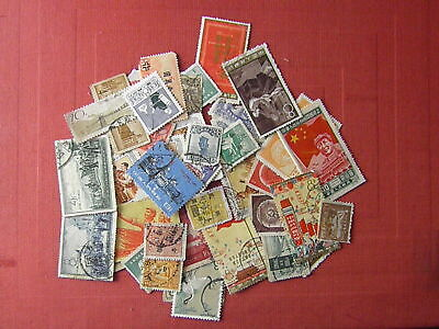 CHINA 49 OLD STAMPS 3 rd CHOICE = DAMAGED STAMPS SOLD AS IS SEE PHOTO!!