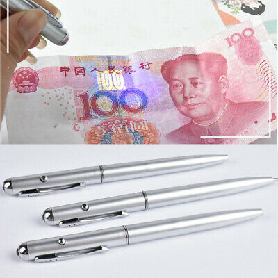 E26F Money Cash Detector Pen UV Banknote Fake Forged Checker Test Office Bank