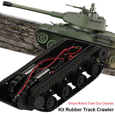 8DB3 Plastic Robot Tank Car Chassis Kit Damping Effect Accessory Diy Education