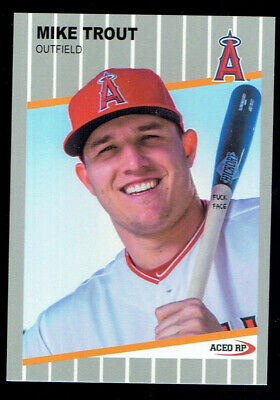 1989 Mike Trout Fleer F**k Face ACEO Custom Card Parody Mint RARE 2