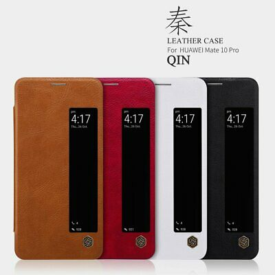 Nillkin Qin Slim Faux Leather Flip Case Cover for Huawei Mate 10 Pro