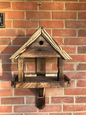 Handmade Cottage Wall Mount Bird Feeder