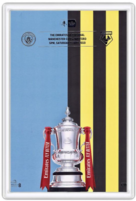 2019 FA Cup Final Manchester City v Watford Programme Cover Magnet