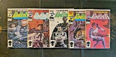 PUNISHER #1-5 Limited Series (Marvel, 1986) Complete Set! Zeck covers! 2 3 4