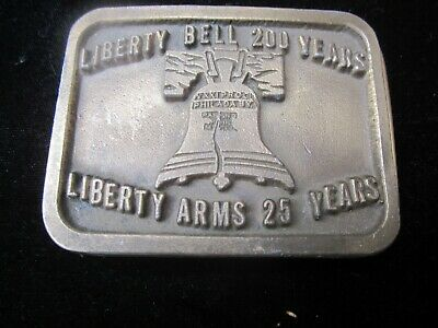 Liberty Bell 200 Years LIBERTY ARMS 25 Years vintage belt buckle gun guns pistol