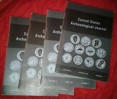 4 CENTRAL STATES Archeological JOURNAL complete SET Book  1987 Indian Arrowhead