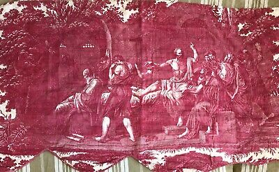 Antique French Toile Fabric 18th Century