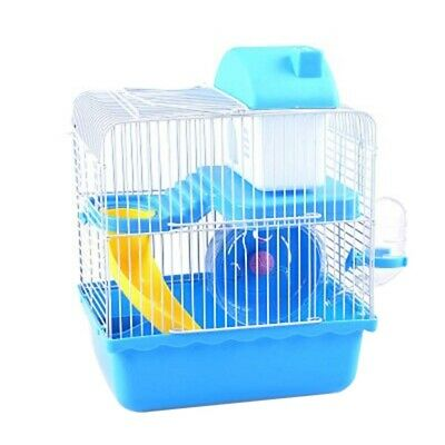 Dwarf Baby Hamster Gerbil Cage Small Animal Mouse Water Bottle Wheel House Bed
