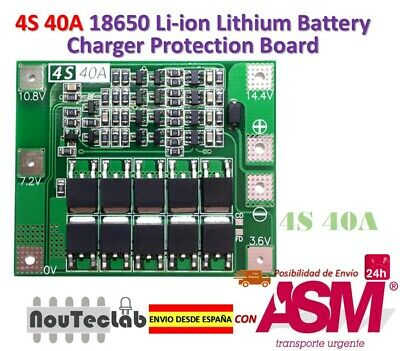 4S 40A 14.8V 16.8V 18650 Lithium Battery Protection Board BMS PCB