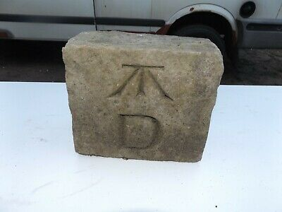 old vintage old stone with markings