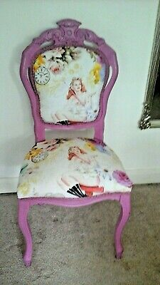 Louis French Vintage Shabby Chic  Reupholstered  Chair