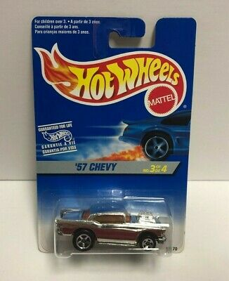 '57 CHEVY 1996 Mattel Hot Wheels diecast 3/4 #15270 ~ RARE Foreign Carded