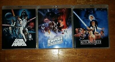 STAR WARS HARMY original trilogy DESPECIALIZED blu ray set+
