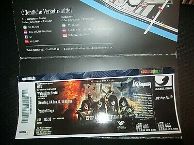 Kiss Ticket, Eintrittskarte  04.06.19,  Waldbühne Berlin, Front of stage!!
