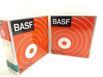 """New BASF LP35 Reel To Reel Tapes 7"""" 1800' in Hard Case 3-Pack (2 Tapes 6 Slots)"""