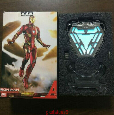 Cattoys Avengers EndGame Iron Man MK50 mark 50 Nano Suit Armor Arc Reactor Light