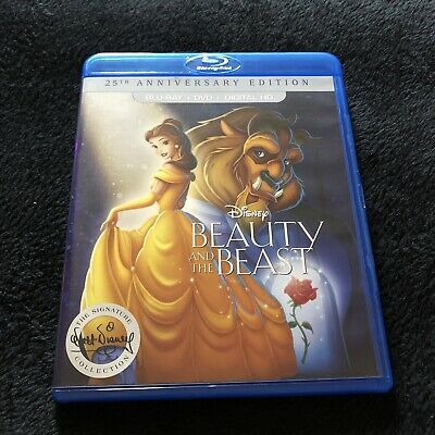 Beauty and the Beast (Blu-ray/DVD, 2016, 2-Disc Set, 25th Anniversary Edition.