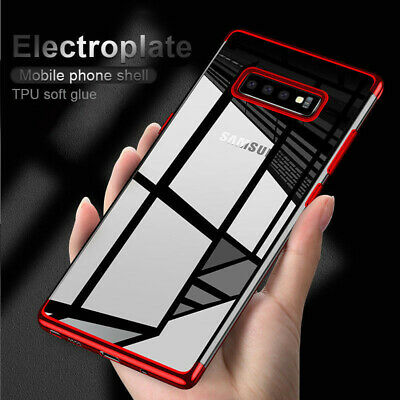 For Samsung Galaxy S10 5G Luxury Shockproof Plating Rubber Clear Slim Case Cover