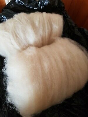 100gr Merino X UNWASHED! Wool Fleece Carded No Chemicals!!! Spin Felt Dye Crafts