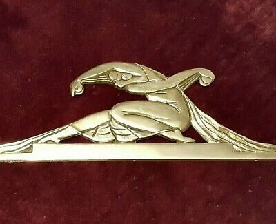 Large French Art Deco Bronze Plaque - Rare 1920s Dancer Relief Modernist 1930s