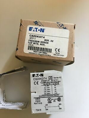 EATON CUTLER HAMMER C320KGT4 2 NO Top Mount Auxiliary Contact Freedom Series
