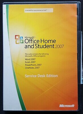 Microsoft Office Home And Student 2007 Service Desk Edition Software From 2007
