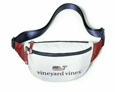 NWT Vineyard Vines for Target Flag Whale Fanny Pack Red White & Blue USA IN HAND