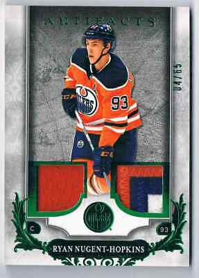2018-19 Artifacts Materials Emerald Ryan Nugent-Hopkins Jersey & Patch 3 Clrs