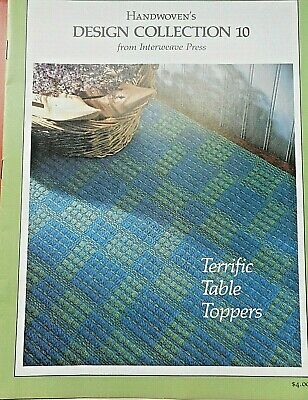 1987 Handwoven Magazine Design Collection 10 Terrific Table Toppers