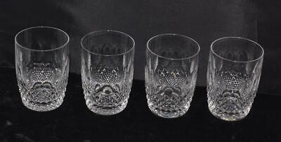 """4 Vintage Waterford Crystal Colleen Double Old Fashioned/Tumbler Glasses -4.5""""H"""