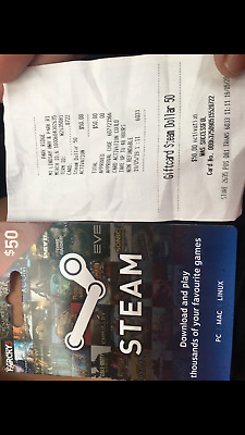 brand new $50 steam giftcard