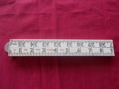 Carpenters vintage yard and 36 inch folding ruler