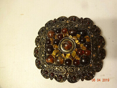 Vintage Tiger Eye Belt Buckle