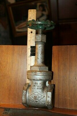 "Antique JENKINS BROS 1-1/2"" BRASS Gate Valve Cut Off Steam Punk"