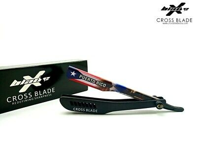 Puerto Rican Flag Limited Edition Barber Salon Straight Cut Throat Shaving Razor